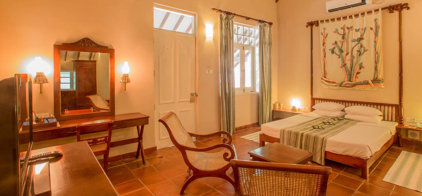 Cottage type rooms that blends with nature at Sigiriya Village Hotel