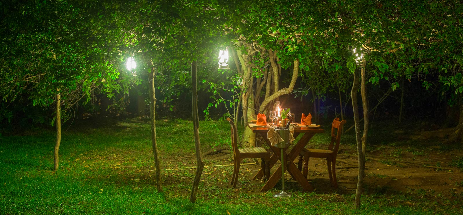 Dining under the starts at Sigiriya Village Hotel