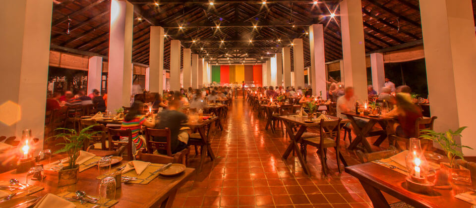 A unique dining experience at the Sigiriya Village Hotel Main Restaurant