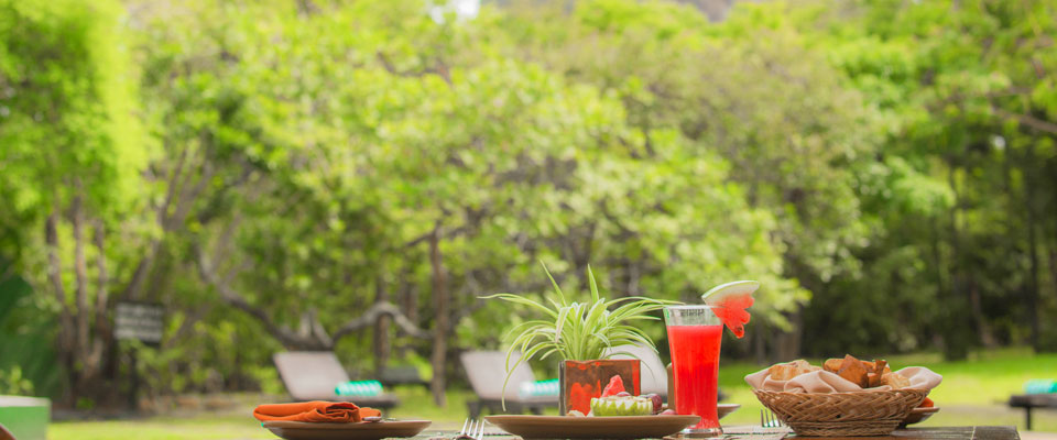 Enjoy a breakfast after a swim at Sigiriya Village