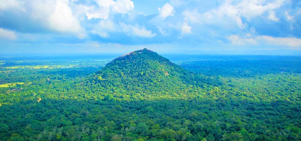 Pidurangala rock monastery in Sri Lanka