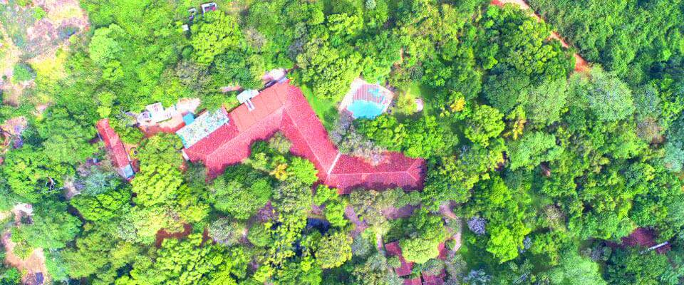 The top view of the Sigiriya Village Hotel
