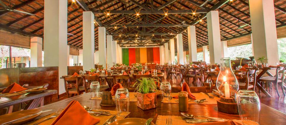 The Main Restaurant events space at the Sigiriya Village Hotel