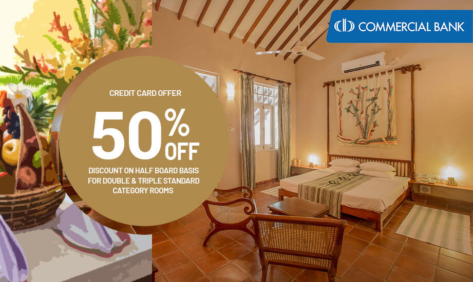 Commercial Bank Credit Card Offer - Sigiriya Village Hotel