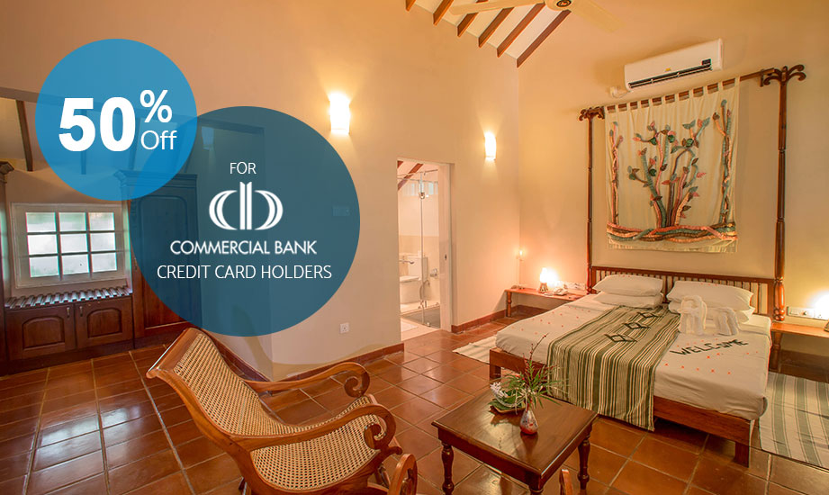 Commercial Bank Credit Card Offer - Sigiriya Village Hotel