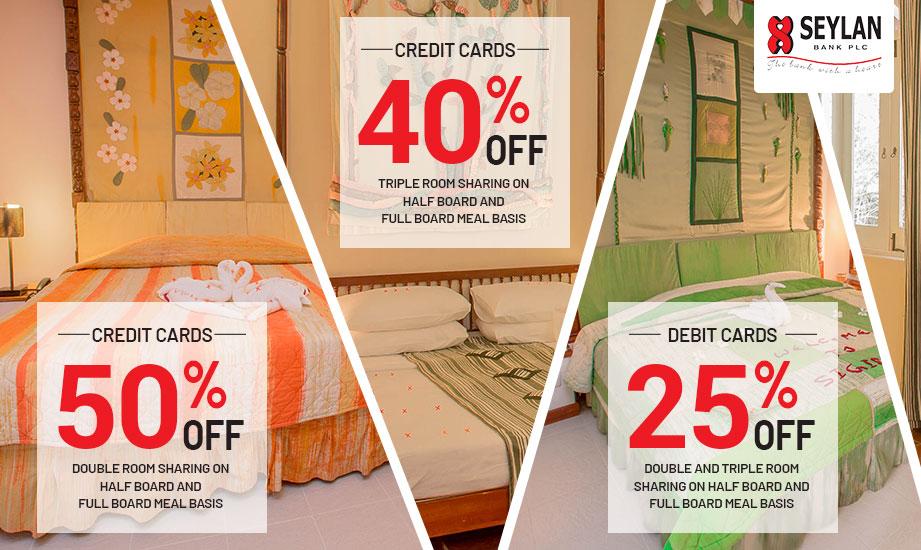 Up to 50% off on Seylan Cards at Sigiriya Village