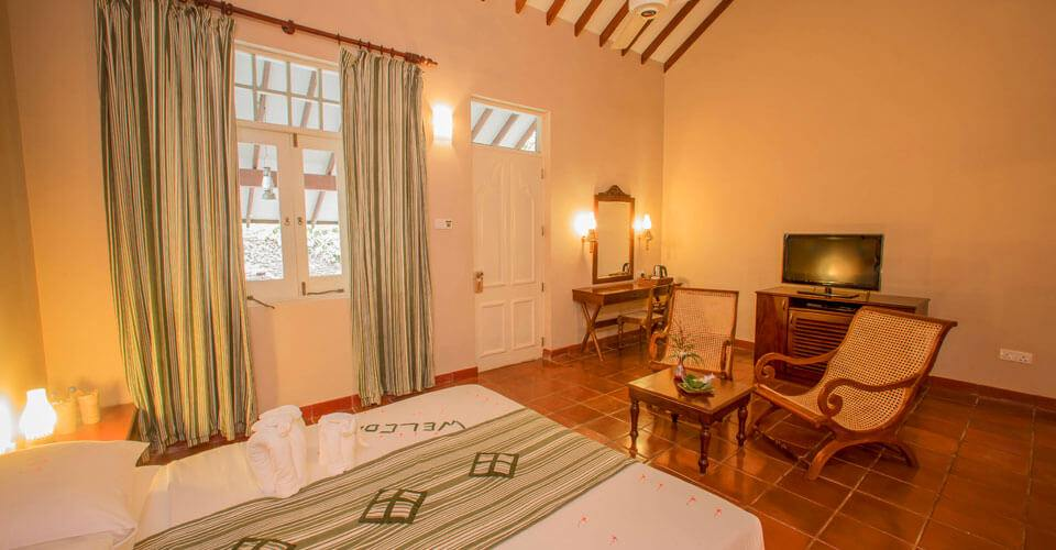 The spacious Deluxe Rooms at Sigiriya Village Hotel