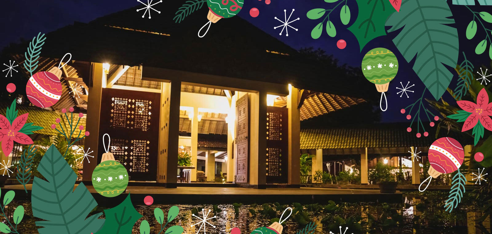 The Palms Hotel, a beachfront resort by the Golden Mile Beach in Sri Lanka