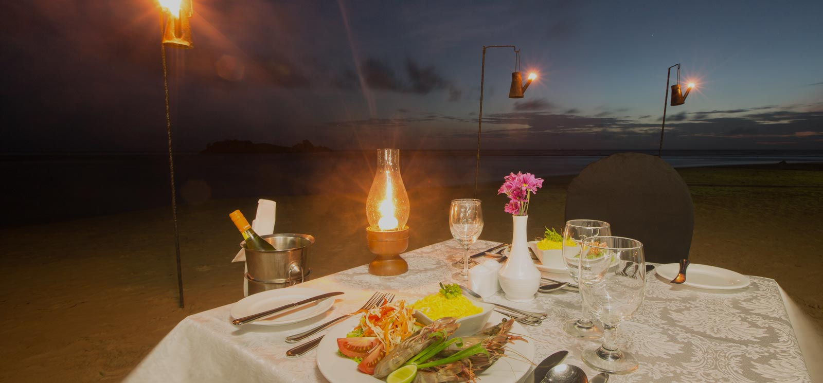 A unique dining experience on the beach at The Palms Hotel, Beruwala, Sri Lanka