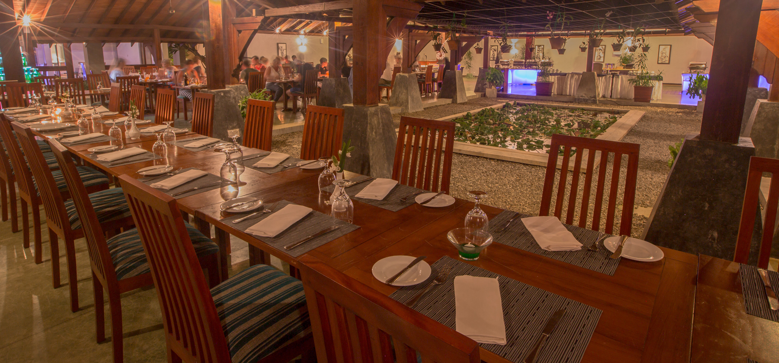 The Golden Palms Main Restaurant at The Palms Hotel, Beruwala, Sri Lanka