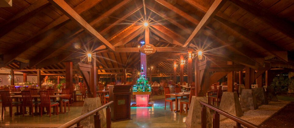 Enjoy your food at a relaxed pace at Golden Palms Restaurant
