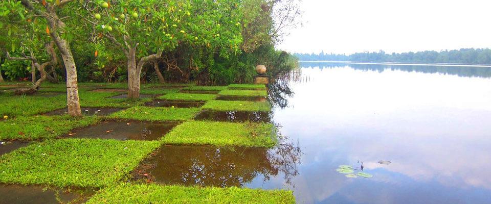 The water garden of Lunuganga Estate