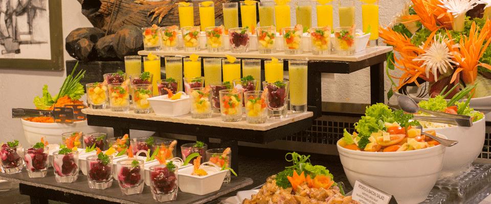 A delicious spread of salads