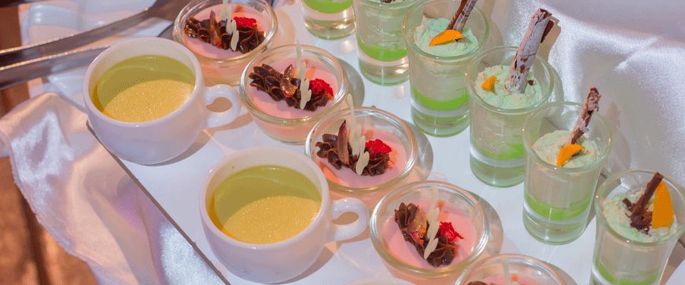 Colourful spread of desserts