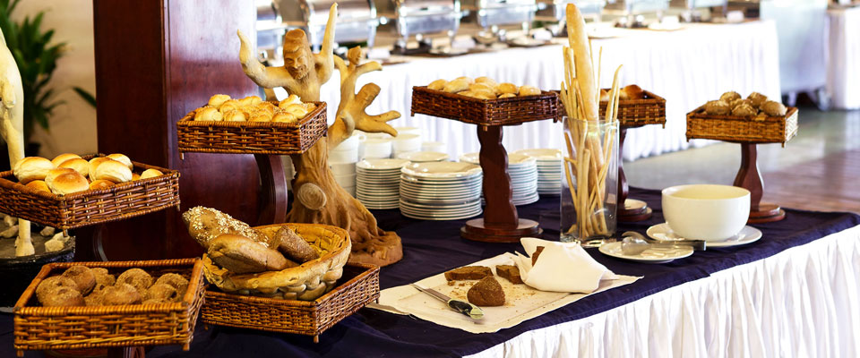The breakfast spread at The Palms