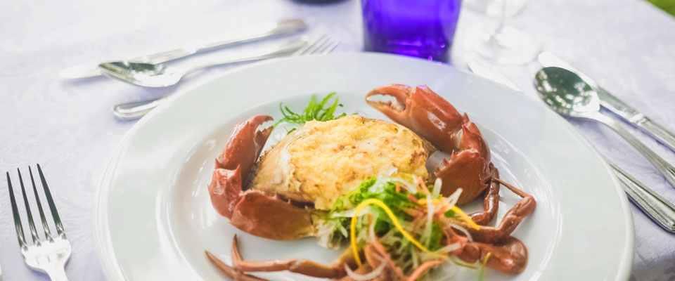 Baked crabs