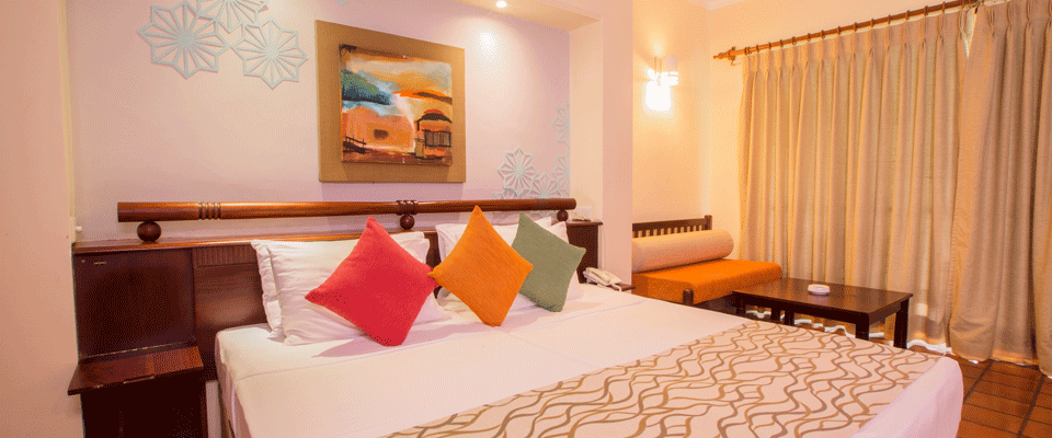 King size beds at Deluxe Rooms