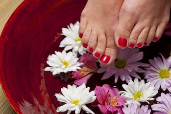 Natural pedicure treatments at The Palms Hotel Ayurveda Spa