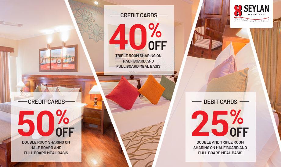 Enjoy up to 50% off on Seylan Cards