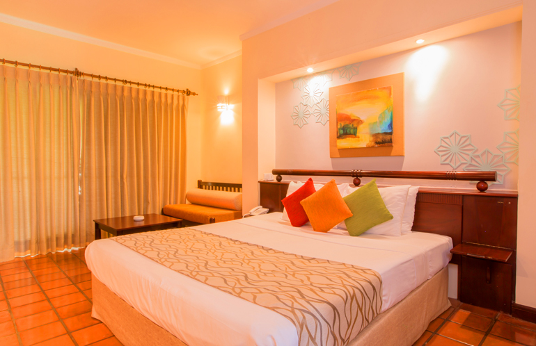 The Palms Hotel, Beruwala, Sri Lanka has 98 beachfront Deluxe Rooms