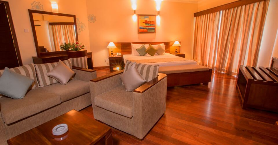 Garden View Suite Rooms at The Palms Hotel in Beruwala, Sri Lanka